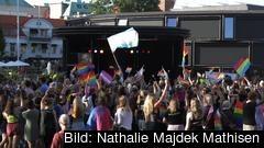 Bilden är tagen under Borås Prideparad 2019. I EU har man inte enats om ett heltäckande lagskydd för alla diskrimineringsgrunder.